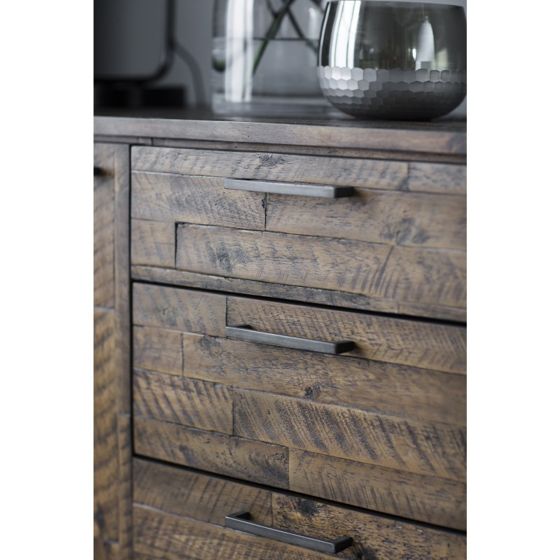 """Fashionable Albright 58"""" Wide 3 Drawer Sideboards With Connie Rustic Acacia Timber & Metal 2 Door 3 Drawer (View 12 of 20)"""
