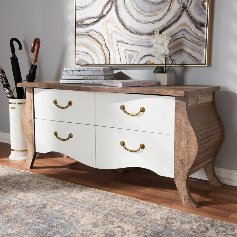 Fashionable Chouchanik 46 Wide 4 Drawer Sideboards For World Menagerie Elicia  (View 20 of 20)