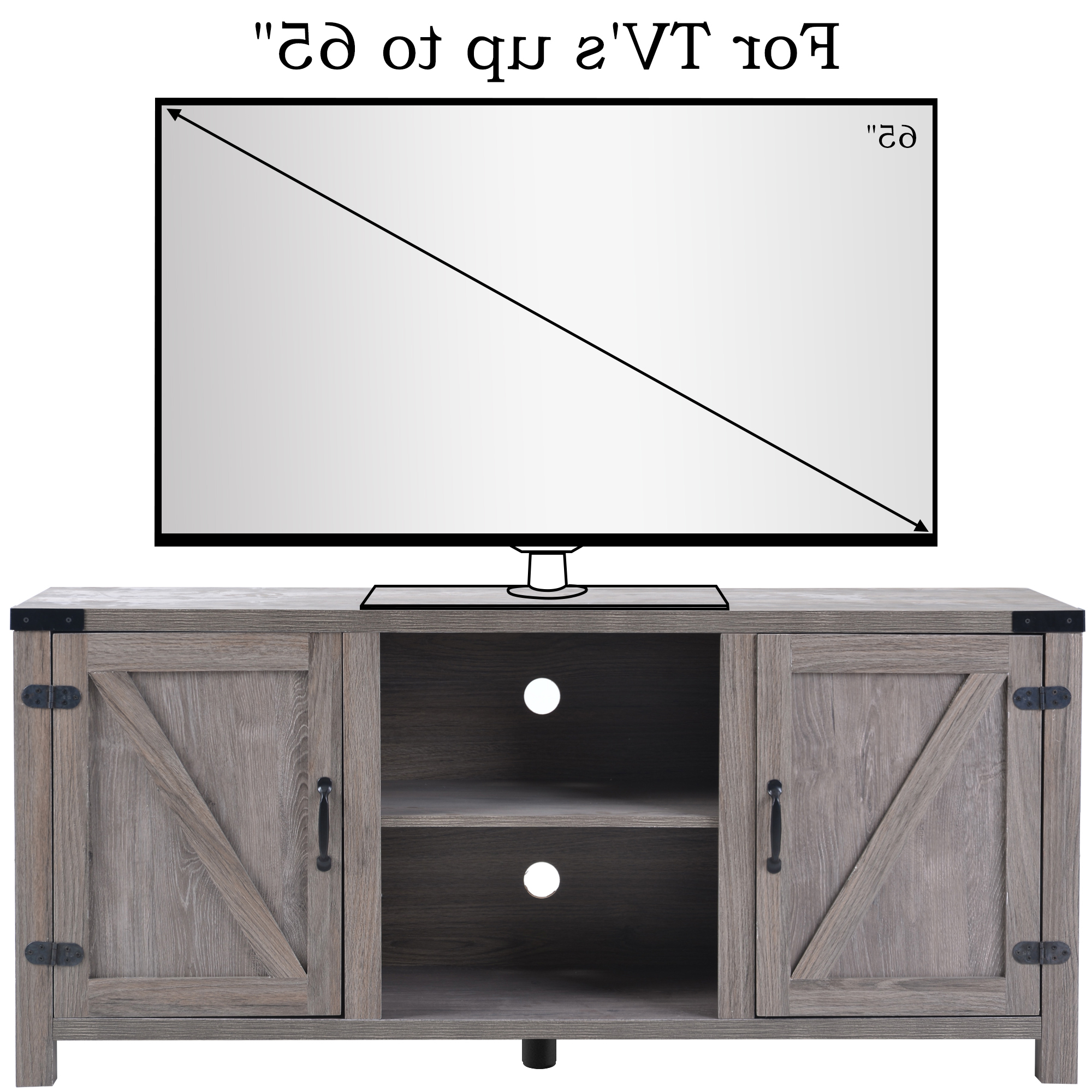 """Fashionable Clearance! Modern Tv Stand Cabinet, Farmhouse Tv Stand For Inside Labarbera Tv Stands For Tvs Up To 58"""" (View 8 of 20)"""