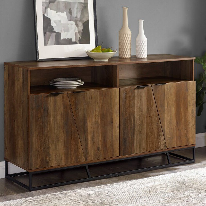 """Fashionable Fritch 58"""" Wide Sideboard In (View 13 of 20)"""