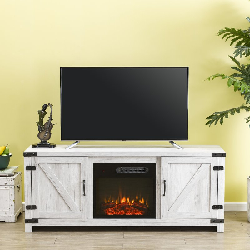 """Fashionable Gracie Oaks Eakly Tv Stand For Tvs Up To 65"""" With Electric Within Binegar Tv Stands For Tvs Up To 65"""" (View 10 of 20)"""