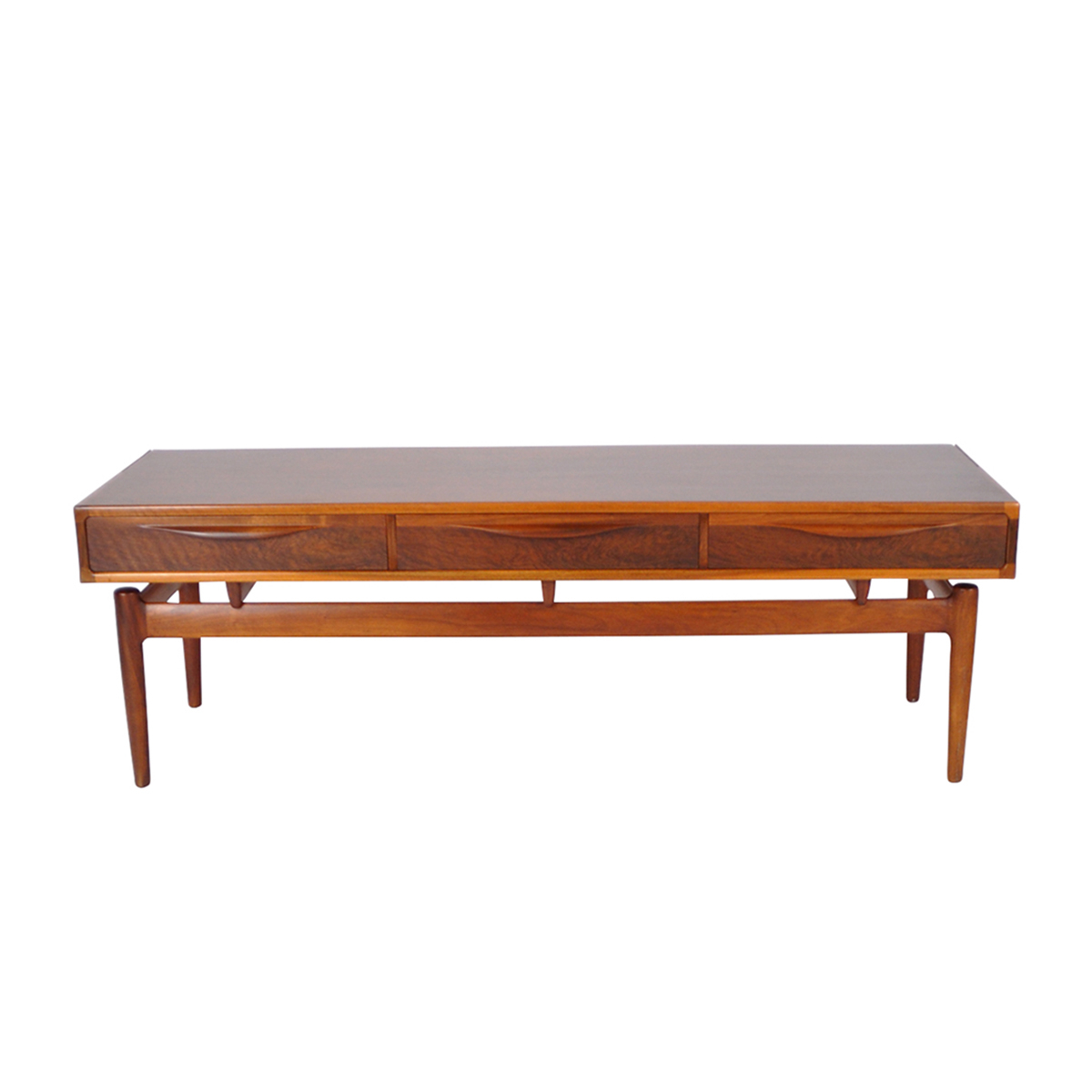 """Fashionable Ismay 56"""" Wide 3 Drawer Sideboards Regarding Kurt Østervig Sideboard In Nut With 3 Drawers (View 20 of 20)"""