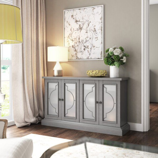 """Fashionable Isra 56"""" Wide 3 Drawer Sideboards For Tompkins 56"""" Wide 2 Drawer Sideboard (View 15 of 20)"""
