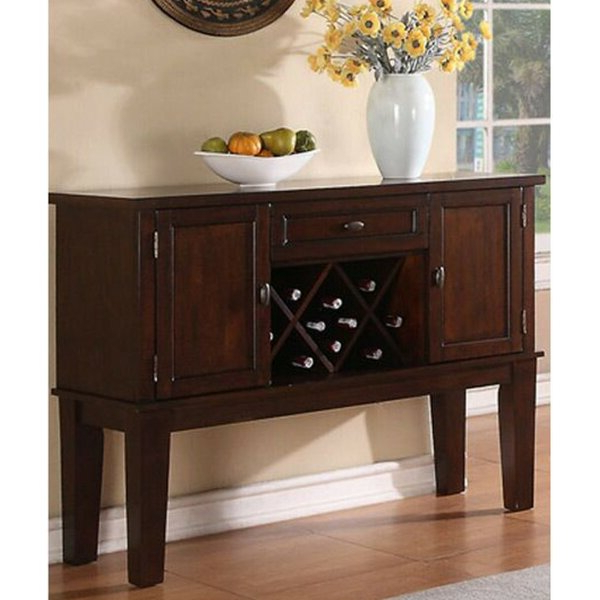 """Fashionable Milena 52"""" Wide 2 Drawer Sideboards Intended For Alcott Hill® Lahey 52"""" Wide 1 Drawer Buffet Table (View 5 of 20)"""