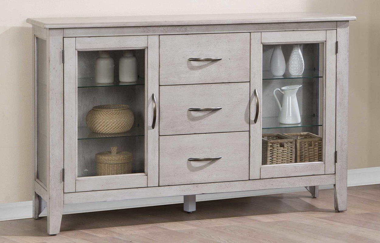 """Fashionable Rutledge 54"""" Wide 3 Drawer Wood Sideboard (View 11 of 20)"""