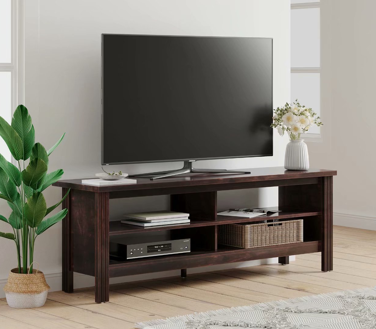 """Fashionable Wampat Farmhouse Tv Stand For 65 '' Flat Screen , Wood Tv Intended For Bloomfield Tv Stands For Tvs Up To 65"""" (View 17 of 20)"""