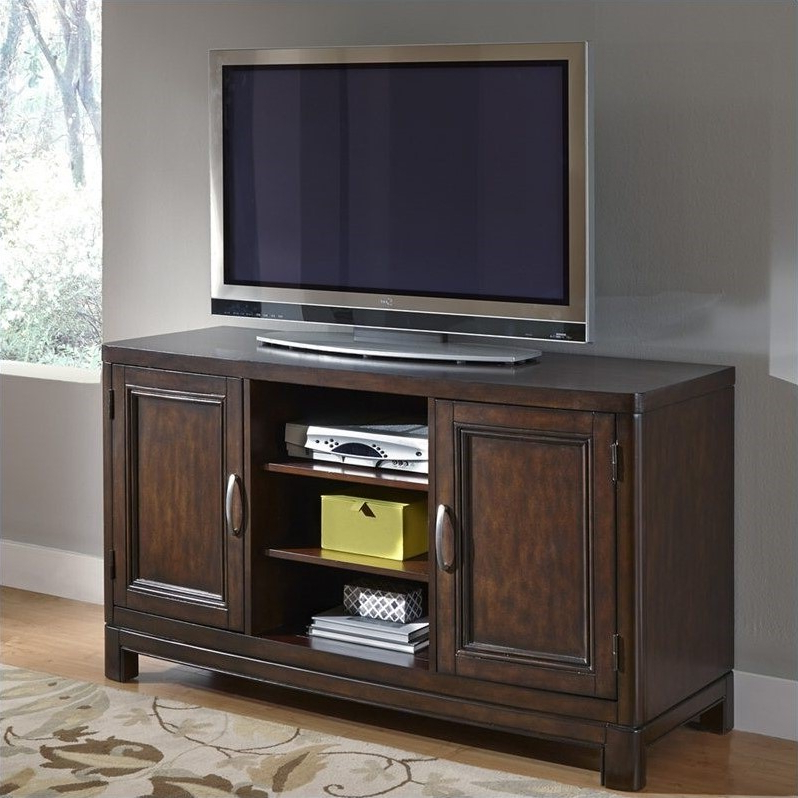Favorite 56 Inch Tv Stand In Two Tone Tortoise Shell – 5549 10 For Kemble Tv Stands For Tvs Up To (View 7 of 20)