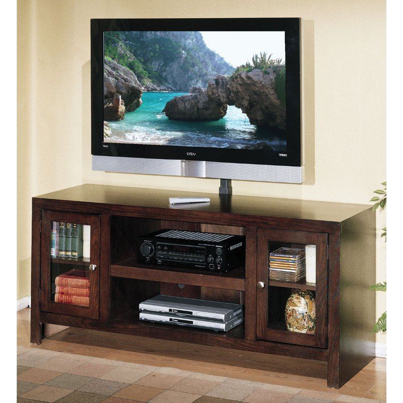 Favorite 60 Inch Oak Chocolate Brown Tv Stand – Del Mar (View 13 of 20)