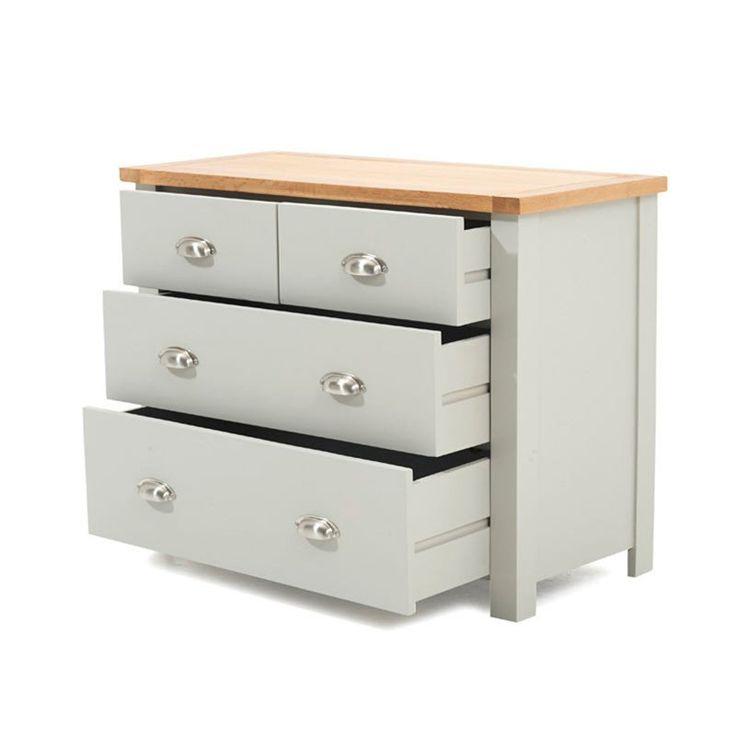 Favorite Sandringham Solid Oak Painted Cream/grey Cabinet (2+2 Regarding Sorrento  (View 12 of 16)