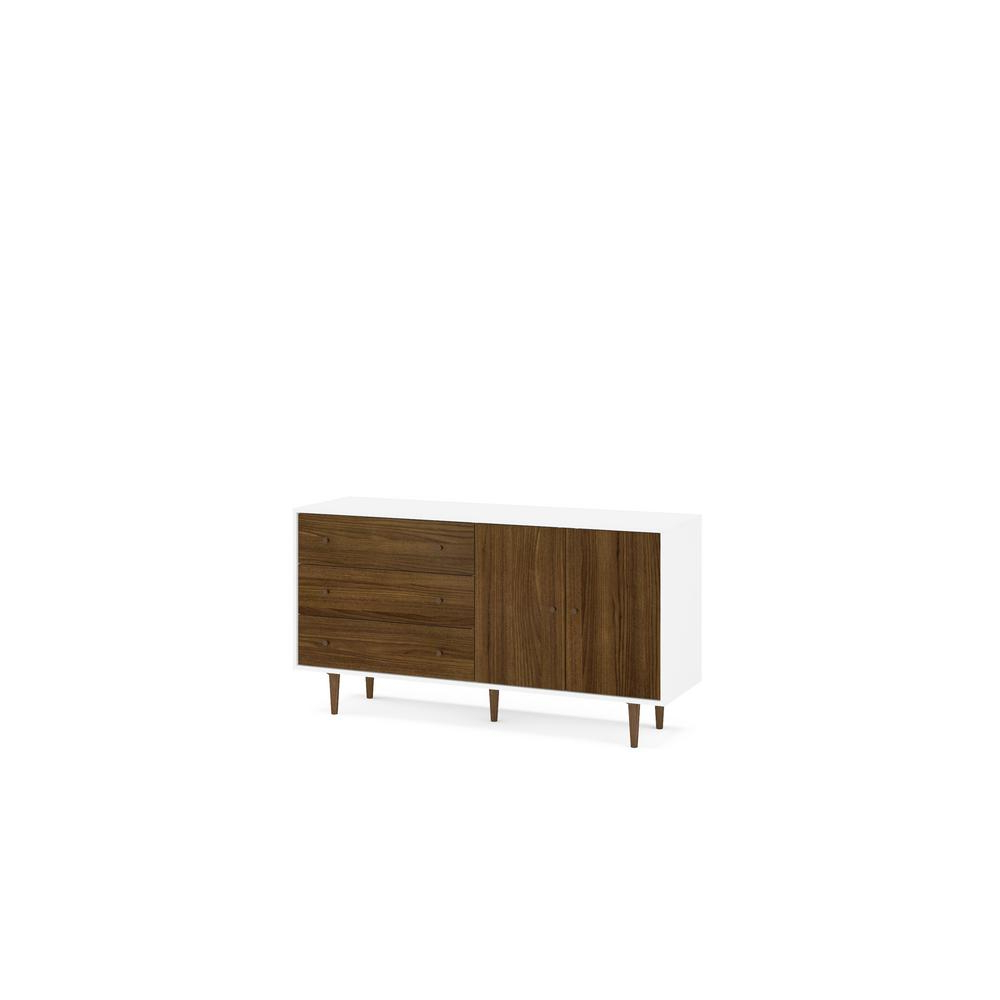 Favorite Unbranded Naples White And Dark Brown Sideboard 1802750001 In Ebenezer (View 13 of 20)