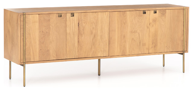 """Favorite Westhoff 70"""" Wide 6 Drawer Pine Wood Sideboards With Regard To 82"""" Wide Cino Sideboard Solid Natural Mango Wood Satin (View 20 of 20)"""