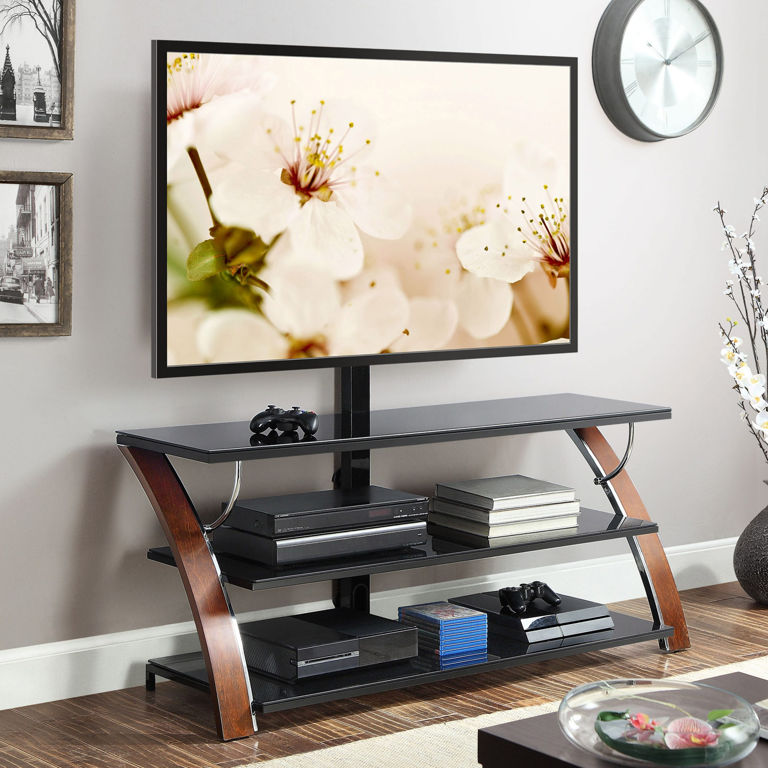 """Finnick Tv Stands For Tvs Up To 65"""" Regarding Most Current Whalen Payton 3 In 1 Flat Panel Tv Stand For Tvs Up To  (View 14 of 20)"""
