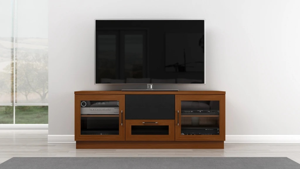 """Finnick Tv Stands For Tvs Up To 65"""" Within Most Current Furnitech Ft60cclc Contemporary Tv Stand Media Console Up (View 8 of 20)"""