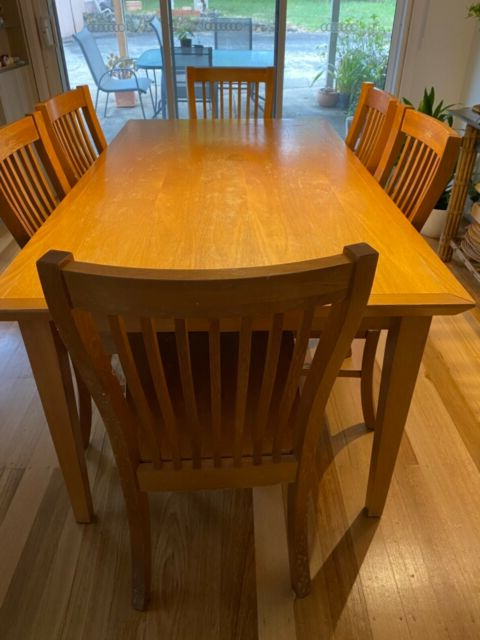 """Follett 47.6"""" Wide Drawer Servers With Most Up To Date Urgent Sale Solid Timber Table/6 Chairs (View 14 of 20)"""