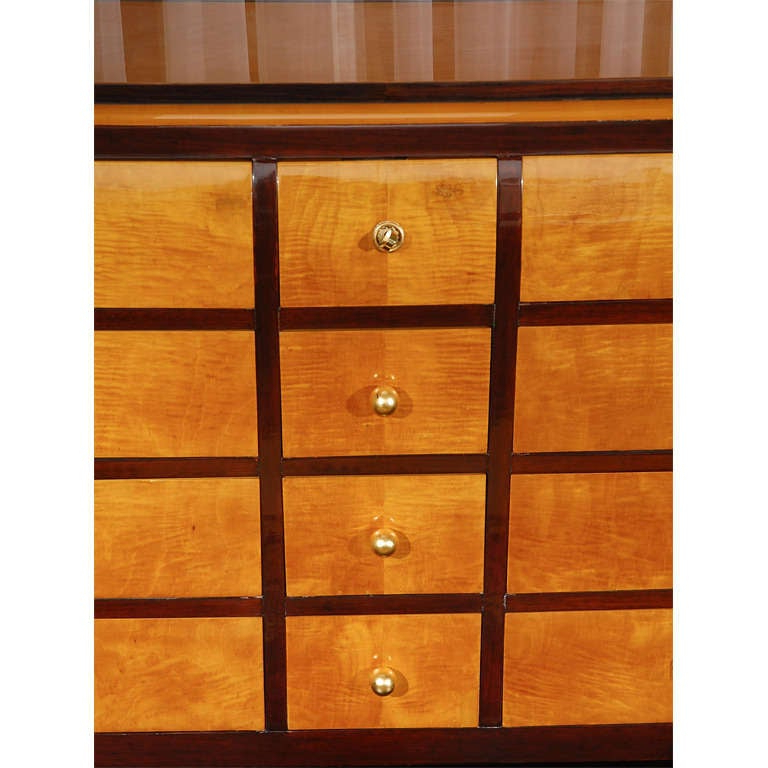 """Francisca 40"""" Wide Maple Wood Sideboards Regarding Trendy Tiger Maple And Palisander Sideboard At 1stdibs (View 16 of 20)"""