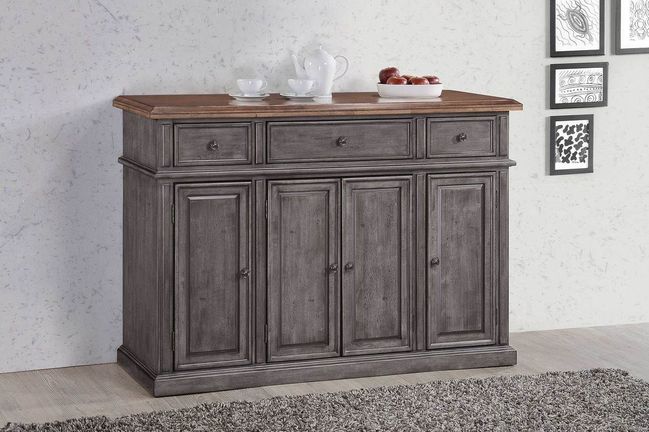 """Francisca 40"""" Wide Maple Wood Sideboards Throughout Preferred Cityside Buffet Server Solid Wood 58w X 18d X 40h (View 11 of 20)"""
