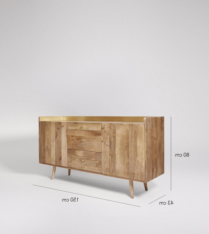 "Fresco, Mango Wood, Wood With Favorite Macdonald 36"" Wide Mango Wood Buffet Tables (View 13 of 20)"
