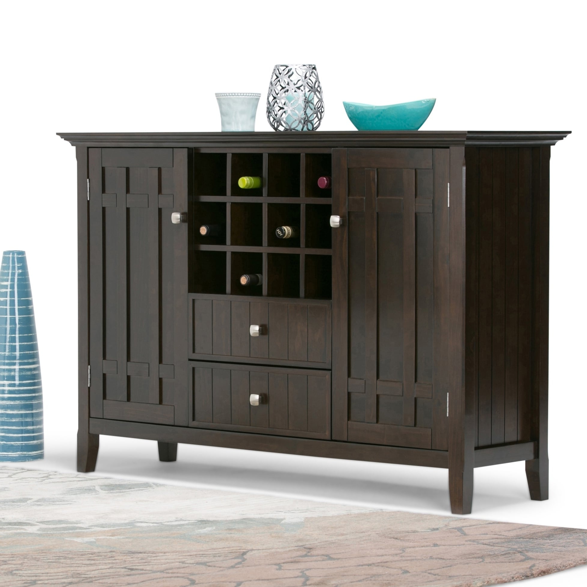 """Fritch 58"""" Wide Sideboards In Latest Wyndenhall Freemont Solid Wood 54 Inch Wide Rustic (View 16 of 20)"""