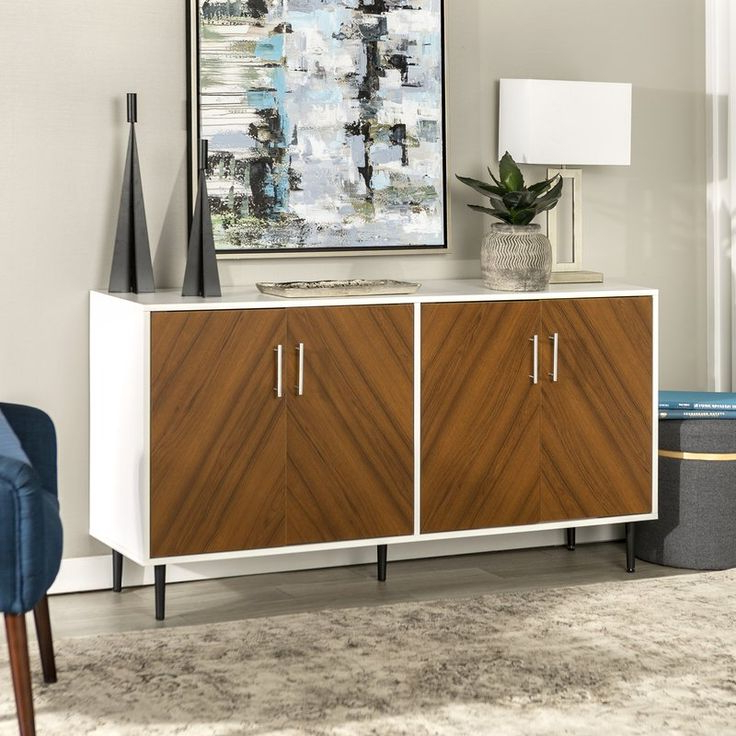"""Fritch 58"""" Wide Sideboards With Trendy Keiko Bookmatch 58"""" Wide Sideboard (View 7 of 20)"""