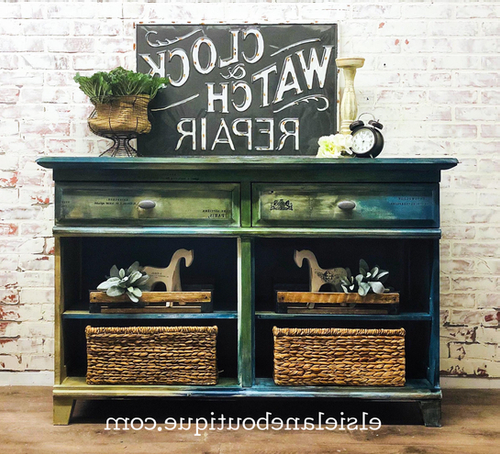 """Fugate 48"""" Wide 4 Drawer Credenzas Inside Fashionable Sold Shipping Included Buffet / Sideboard /credenza (View 16 of 20)"""