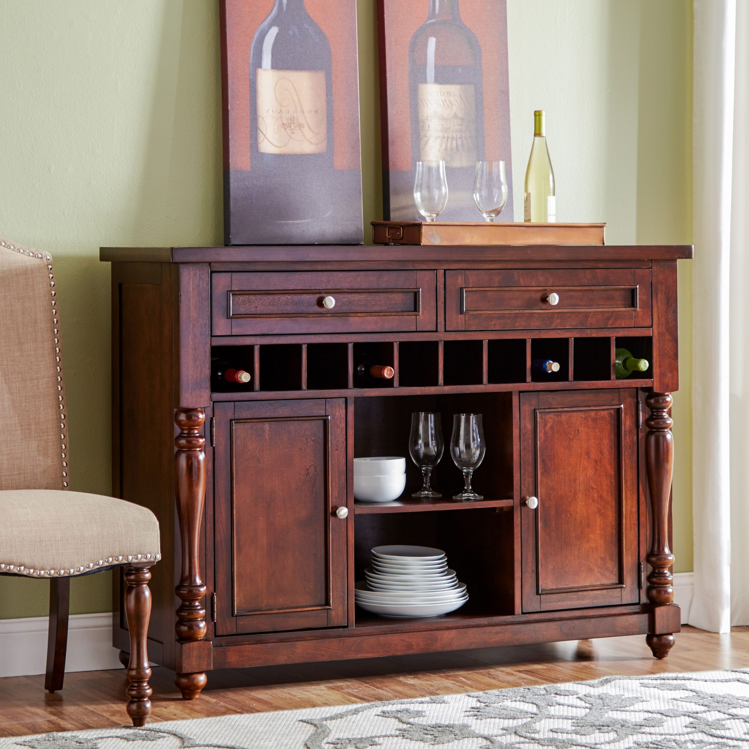 """Furniture, Buffet With Well Known Annabella 54"""" Wide 3 Drawer Sideboards (View 10 of 20)"""