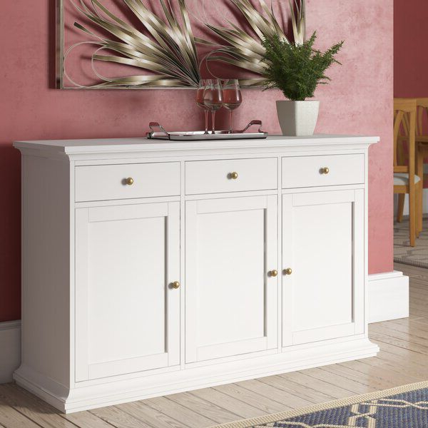 """Furniture With Current Albright 58"""" Wide 3 Drawer Sideboards (View 17 of 20)"""