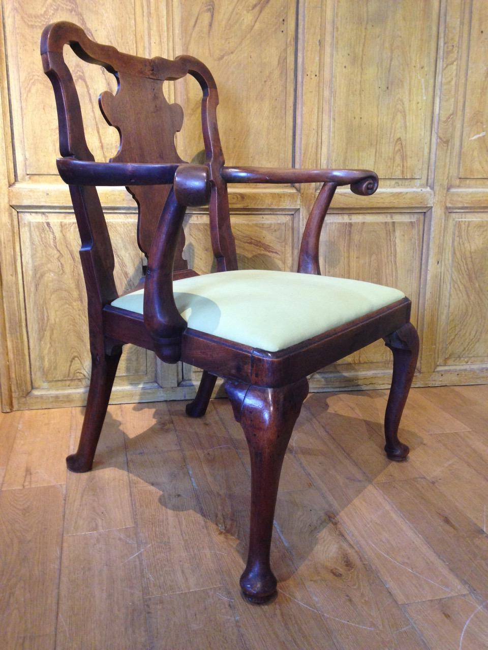 George Ii Walnut Elbow Chair – Seating, Sofas & Chairs Regarding Famous Revere (View 5 of 20)