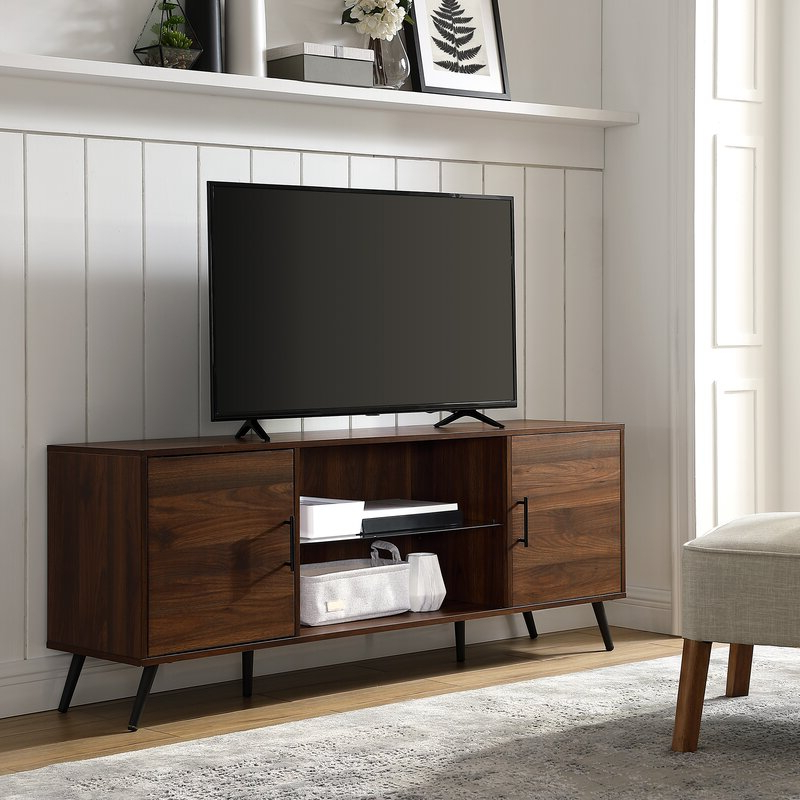 """George Oliver Glenn Tv Stand For Tvs Up To 65"""" & Reviews In Famous Aaric Tv Stands For Tvs Up To 65"""" (View 2 of 20)"""