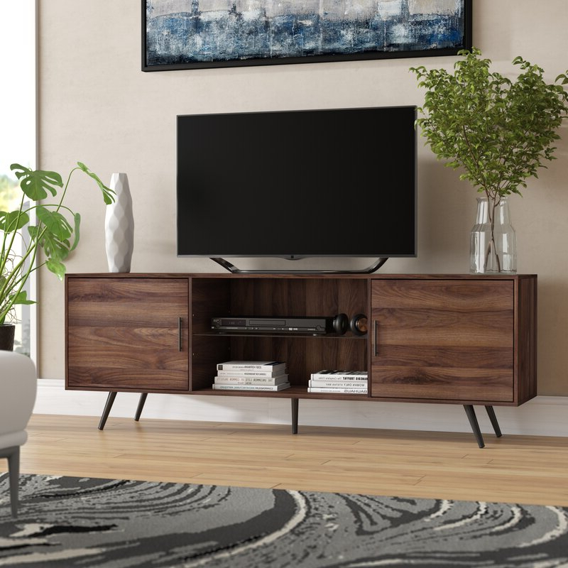 """George Oliver Glenn Tv Stand For Tvs Up To 78"""" & Reviews Regarding Current Ira Tv Stands For Tvs Up To 78"""" (View 13 of 20)"""