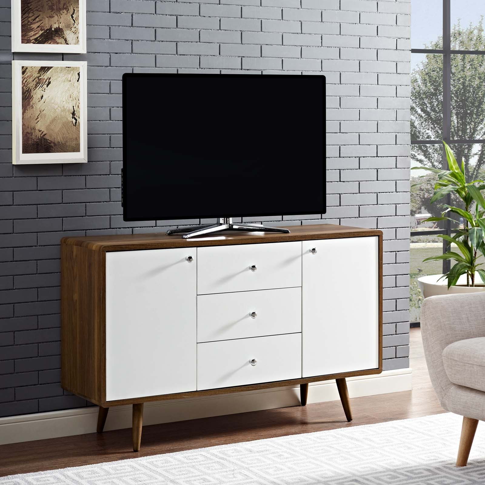 """Get The Transmit Sideboard – Walnut White From Opensky Now In Famous Fugate 48"""" Wide 4 Drawer Credenzas (View 2 of 20)"""