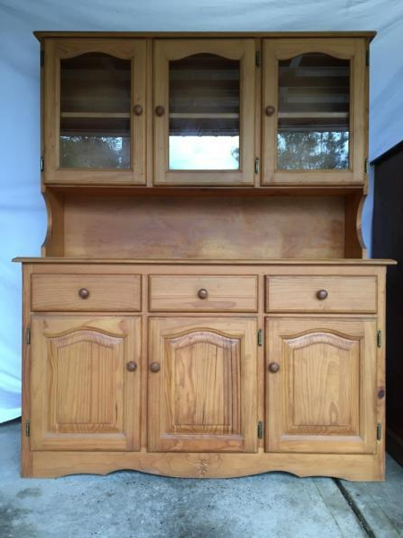 """Glass Hutch – Brick7 Sale Intended For 2020 Westhoff 70"""" Wide 6 Drawer Pine Wood Sideboards (View 13 of 20)"""