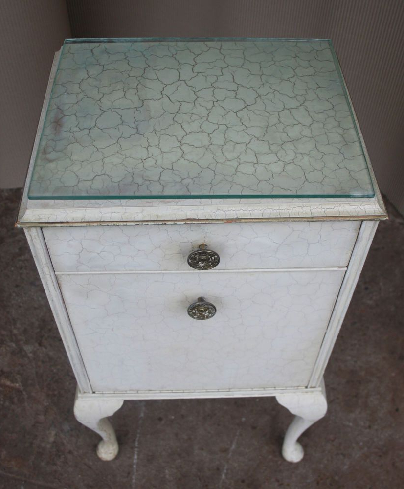 Good Vintage 1950s Chest Of Drawers Bedside Cabinet Shabby In Most Up To Date Blissa Sideboards (View 3 of 20)
