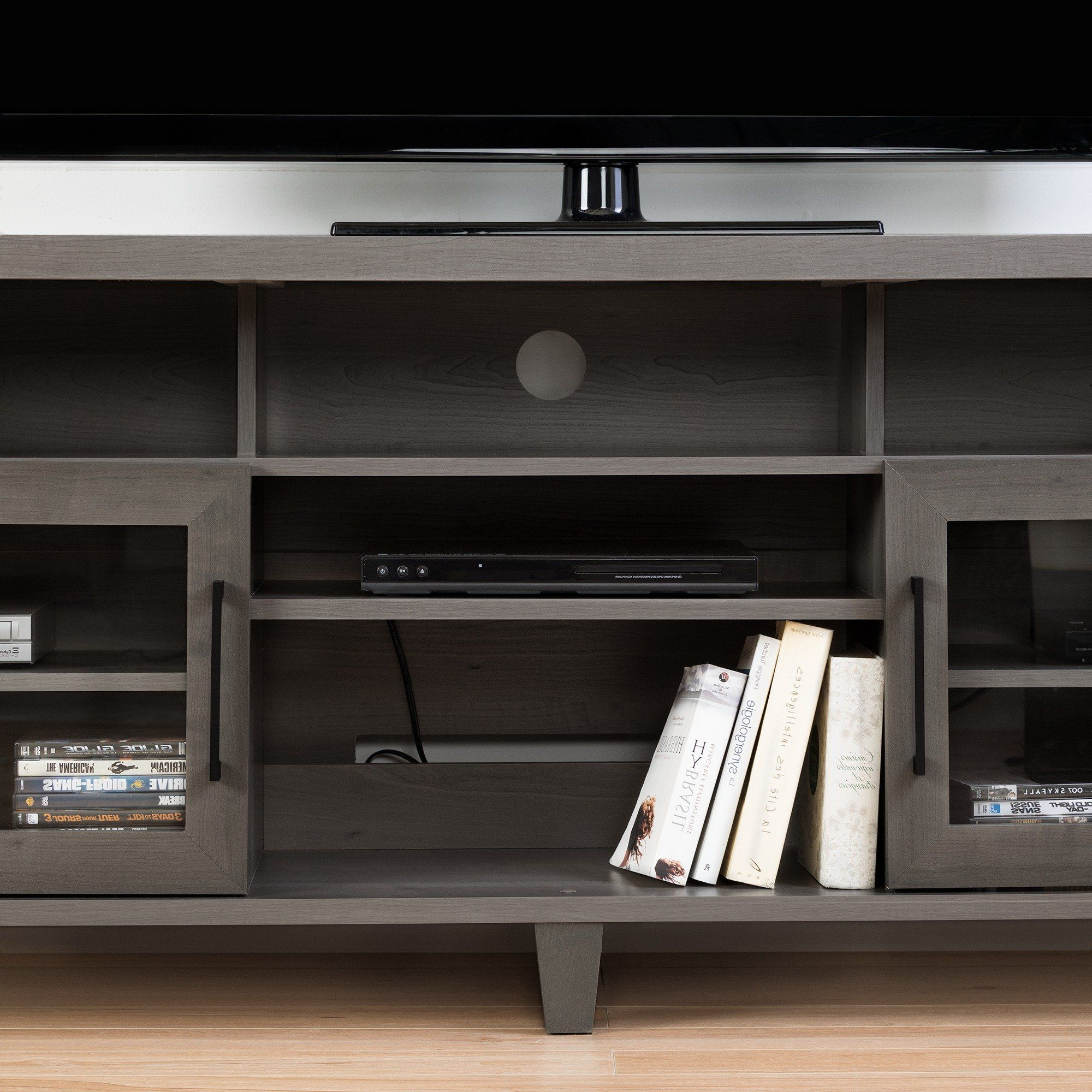 Gray Maple Tv Stand Up To 70 Inch – Adrian (View 18 of 20)