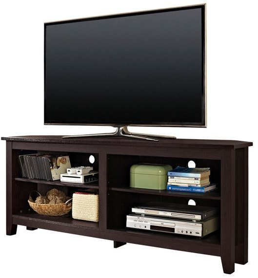 """Greggs Tv Stands For Tvs Up To 58"""" In Newest Walker Edison Furniture, Llc We Furniture 58 Wood Corner (View 8 of 20)"""