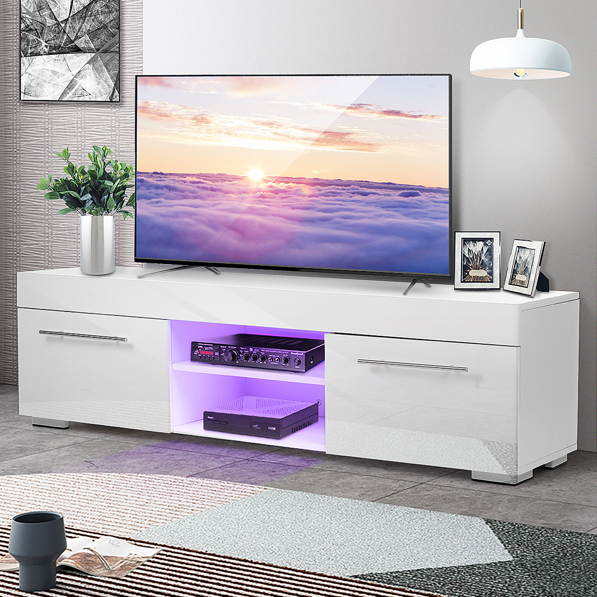 """Greggs Tv Stands For Tvs Up To 58"""" Throughout 2019 Morden 51'' Tv Stand For Tvs Up To 58"""", Led Tv Unit Media (View 6 of 20)"""