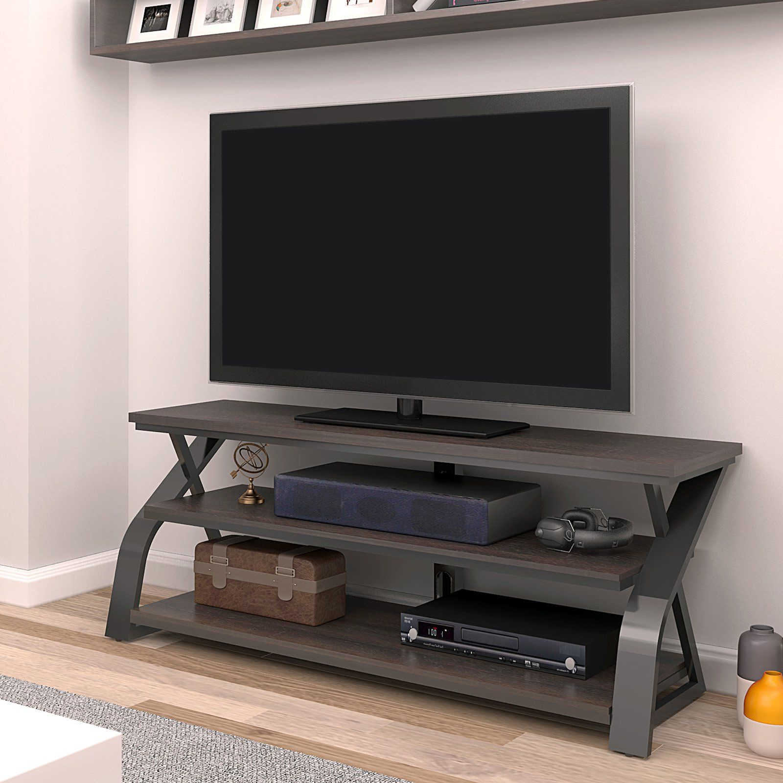 """Greggs Tv Stands For Tvs Up To 58"""" Throughout Most Current Bello Frankfort 58 In (View 17 of 20)"""