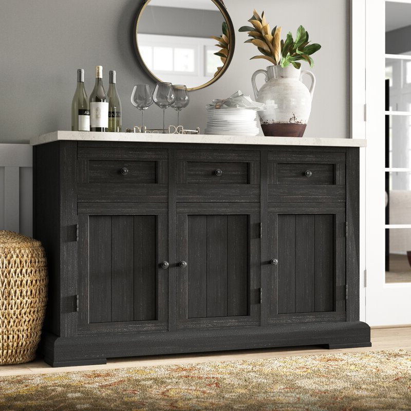 """Greyleigh™ Sherborn 58"""" Wide 3 Drawer Sideboard & Reviews Intended For Popular Fritch 58"""" Wide Sideboards (View 17 of 20)"""
