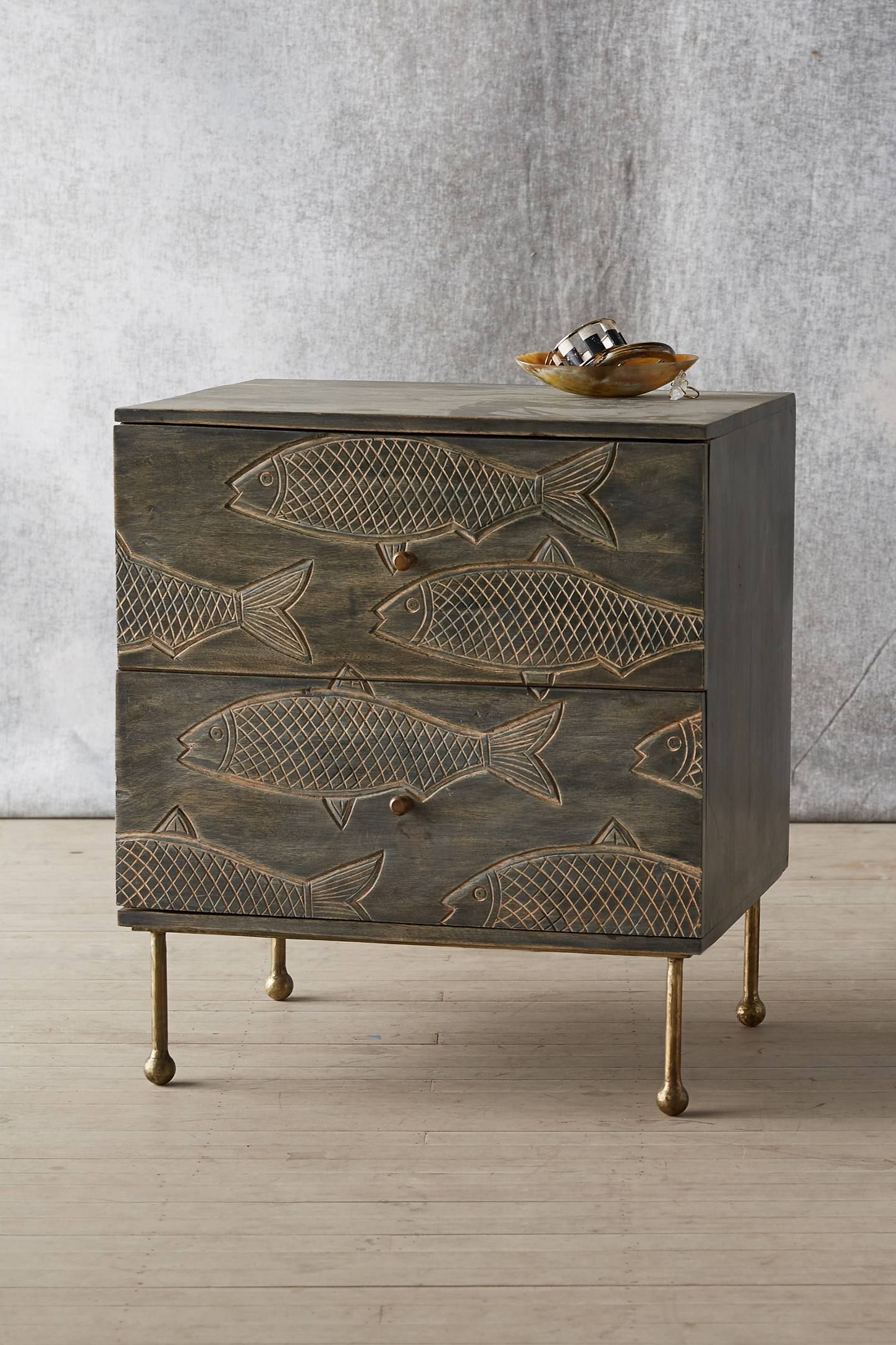 Handcarved Streamlet Nightstand (View 11 of 20)