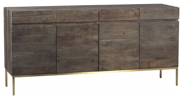 """Hargrove 72"""" Wide 3 Drawer Mango Wood Sideboards Inside Latest 72"""" Long Claudia Sideboard Wood Natural Brown Four Door (View 12 of 20)"""