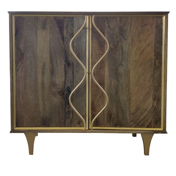 """Hargrove 72"""" Wide 3 Drawer Mango Wood Sideboards Throughout Trendy Wentworth 2 Door Mango Wood Cabinet – Overstock –  (View 17 of 20)"""