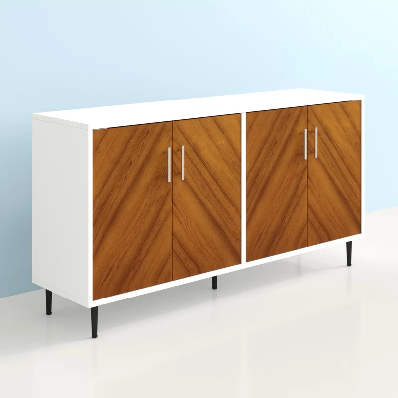 """Hashtag Home Keiko Bookmatch 58"""" Wide Sideboard Reviews In Favorite Islesboro 58"""" Wide Sideboards (View 6 of 20)"""