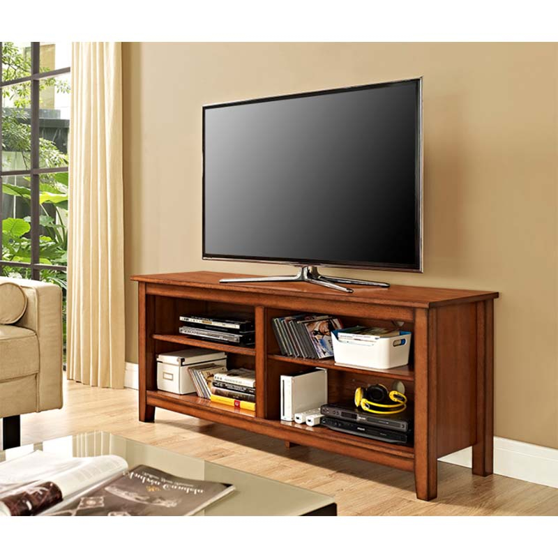 """Herington Tv Stands For Tvs Up To 60"""" With Regard To Trendy Walker Edison Essential Wood 60 Inch Tv Stand (rustic (View 20 of 20)"""