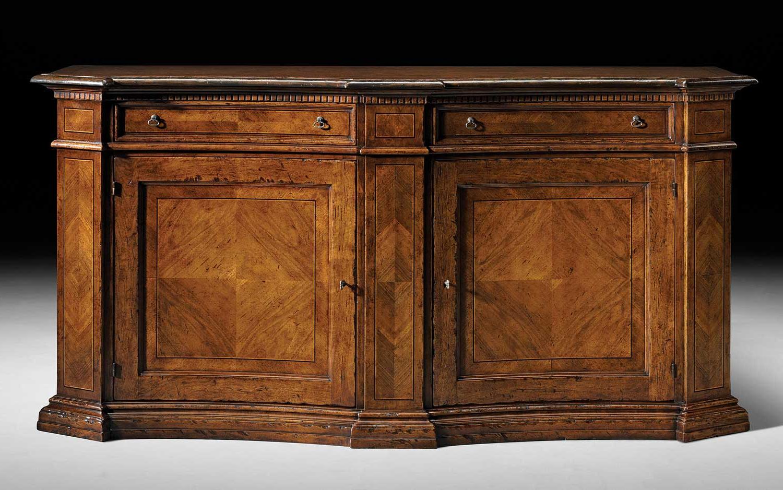 """Herringbone 48"""" Wide Buffet Tables Regarding Famous Fm 466 Sideboard W/ Herringbone Pattern Veneer – David (View 7 of 20)"""