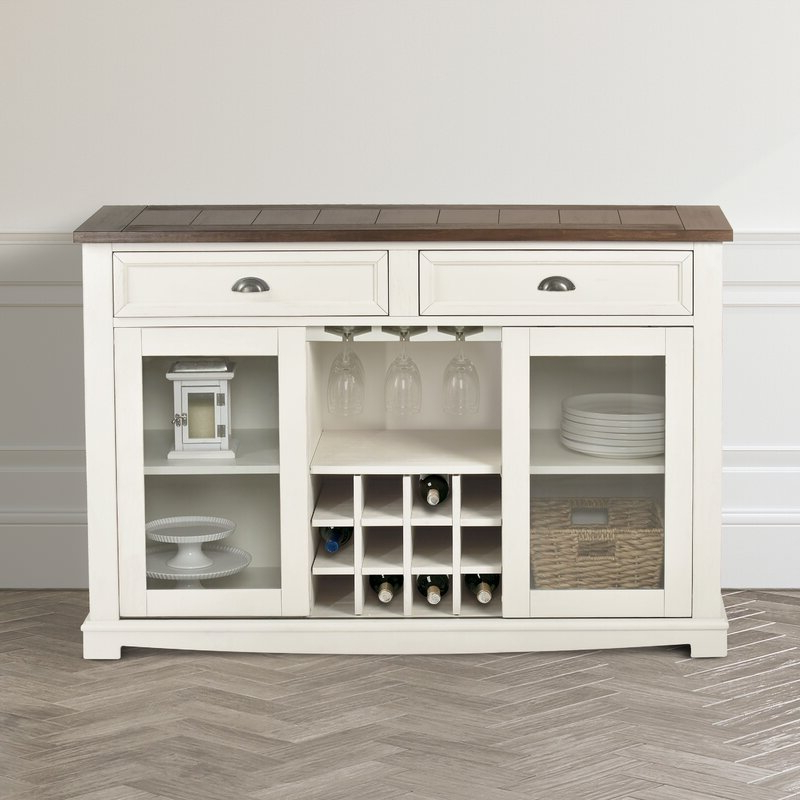 """Highland Dunes Duclos 54"""" Wide 2 Drawer Credenza (View 4 of 20)"""