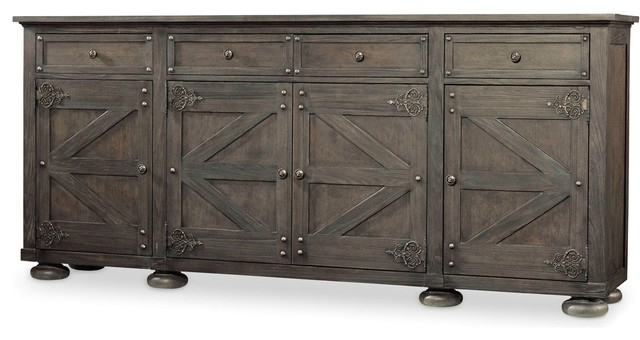 """Hooker Furniture 5700 85001 96 Inch Wide Hardwood With Regard To Well Liked Blade 55"""" Wide Sideboards (View 7 of 20)"""