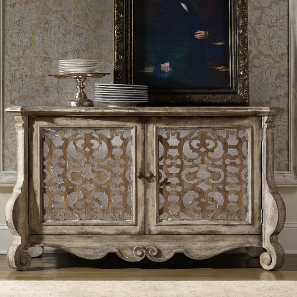"""Hooker Furniture Chatelet 59"""" Wide Poplar Wood Sideboard Pertaining To Trendy Heurich 59"""" Wide Buffet Tables (View 2 of 20)"""