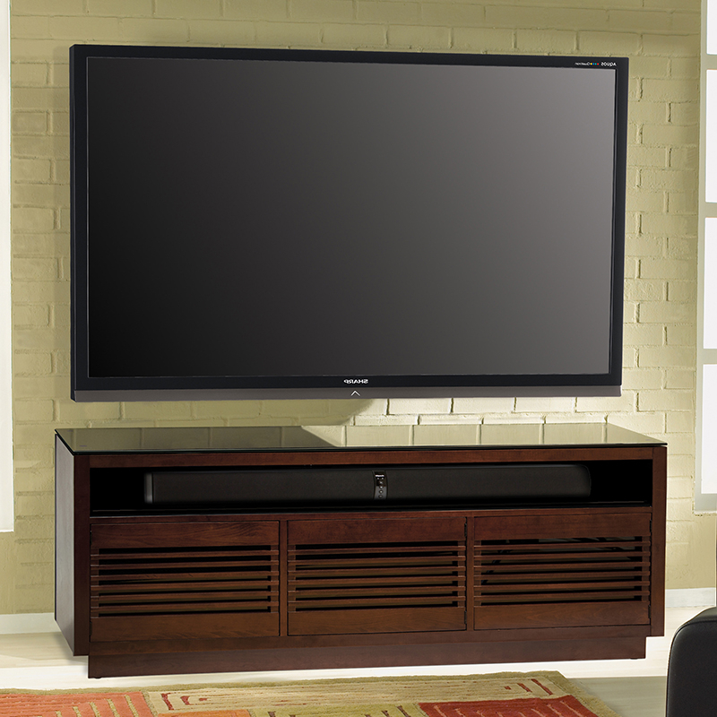 """Huntington Tv Stands For Tvs Up To 70"""" Inside Well Liked Bello Wmfc602 Wood Tv Stand In Chocolate Finish Up To 70"""" Tvs (View 10 of 20)"""