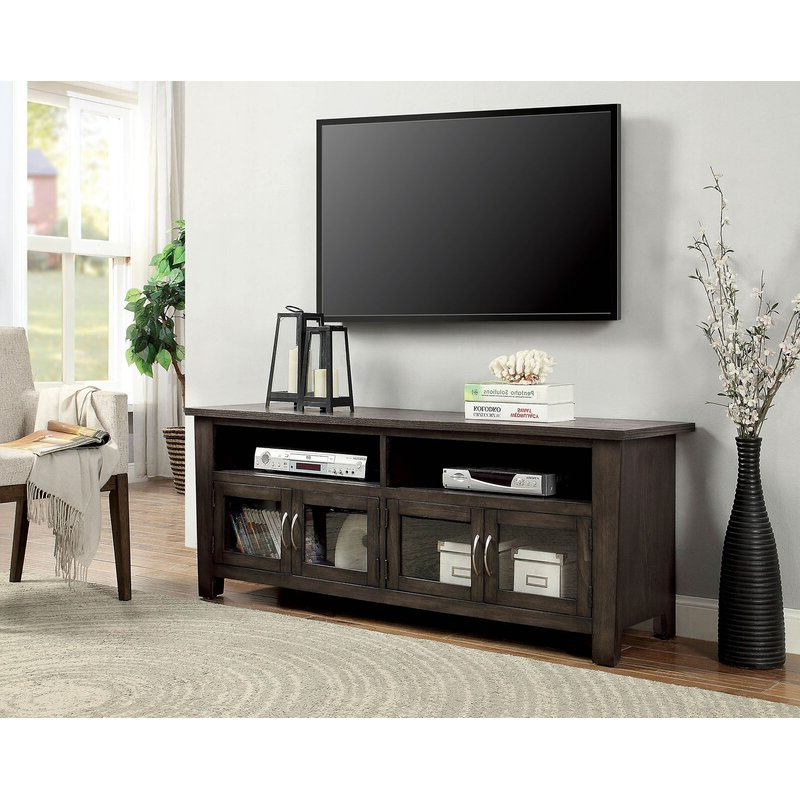 """Ira Tv Stands For Tvs Up To 78"""" Throughout Well Liked Red Barrel Studio Harpersville Solid Wood Tv Stand For Tvs (View 7 of 20)"""