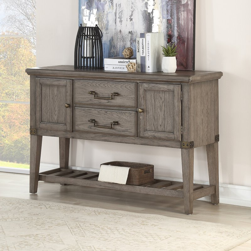 """Ismay 56"""" Wide 3 Drawer Sideboards For Recent Loon Peak Boykins 56"""" Wide 2 Drawer Sideboard (View 2 of 20)"""
