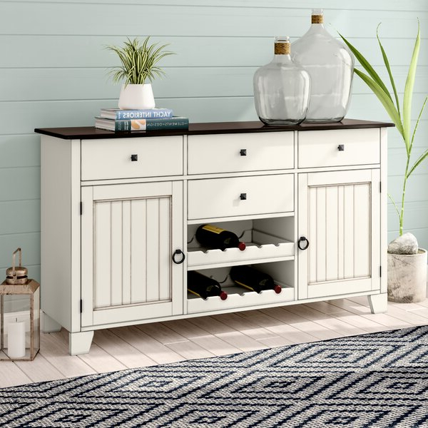 """Jakobe 66"""" Wide Sideboards Intended For Most Current Beachcrest Home Tamiami 66"""" Wide 4 Drawer Rubberwood Wood (View 11 of 20)"""